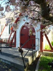 HI door & blossom