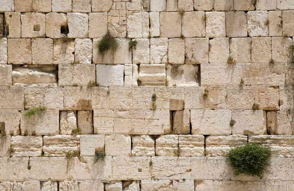 A section of the Wailing Wall in Jerusalem