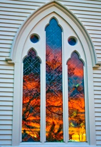 Joy church window
