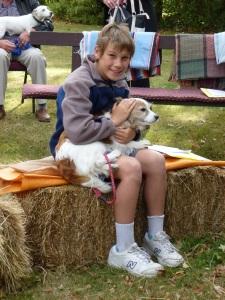 Gemma won 'best behaved pet' prize