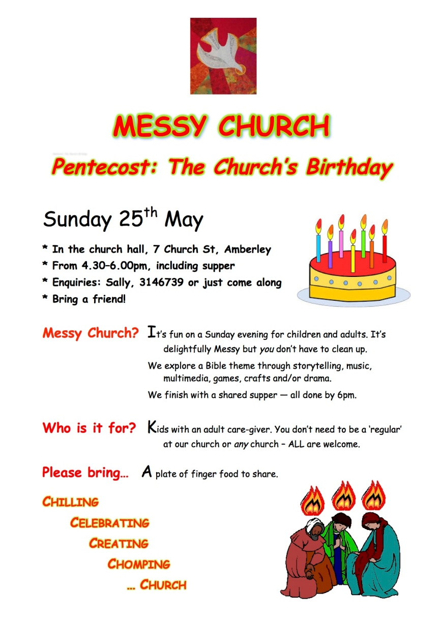 Large Messy Church Pentecost